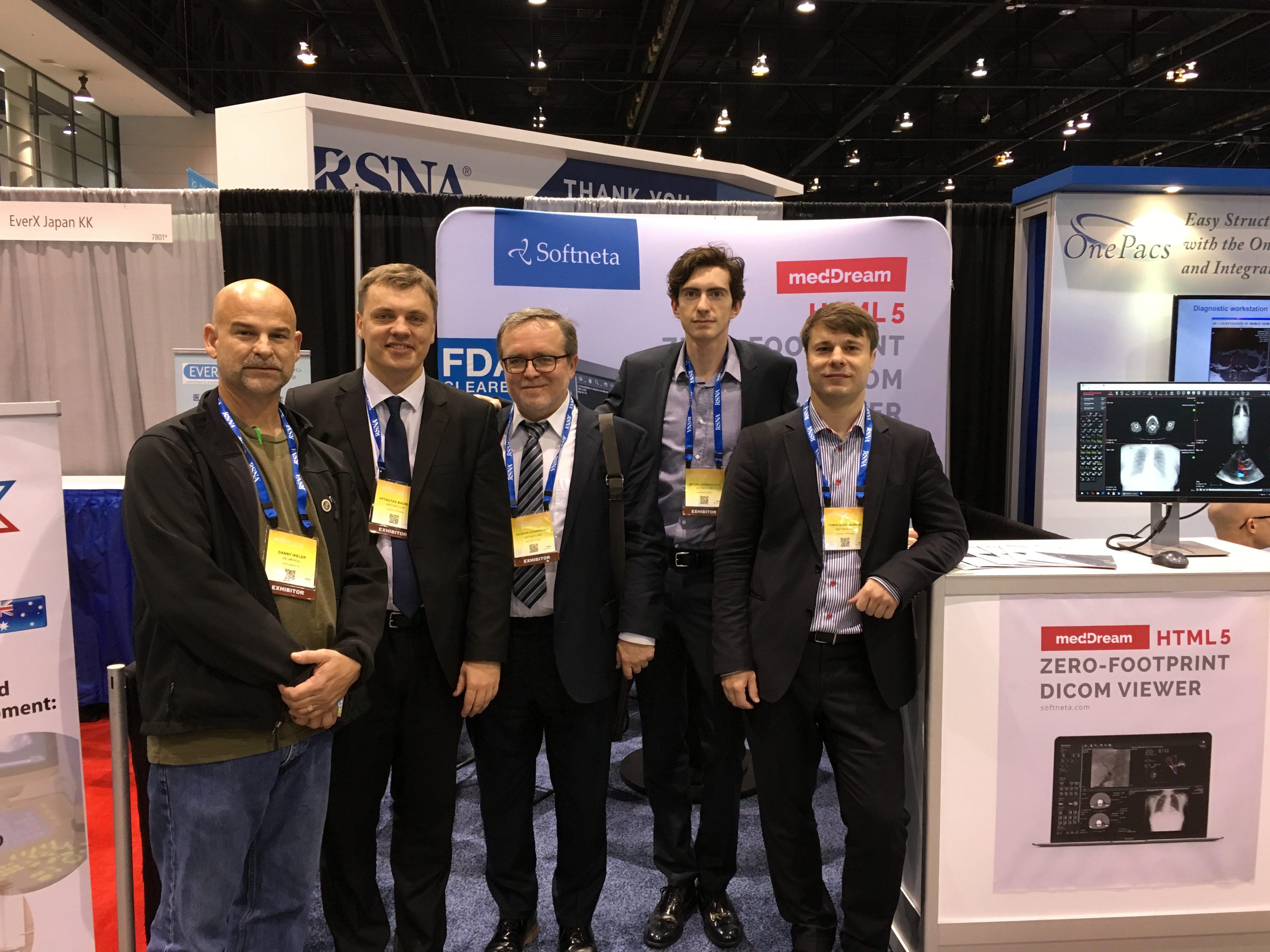 RSNA 2016 SOFTNETA team with partners