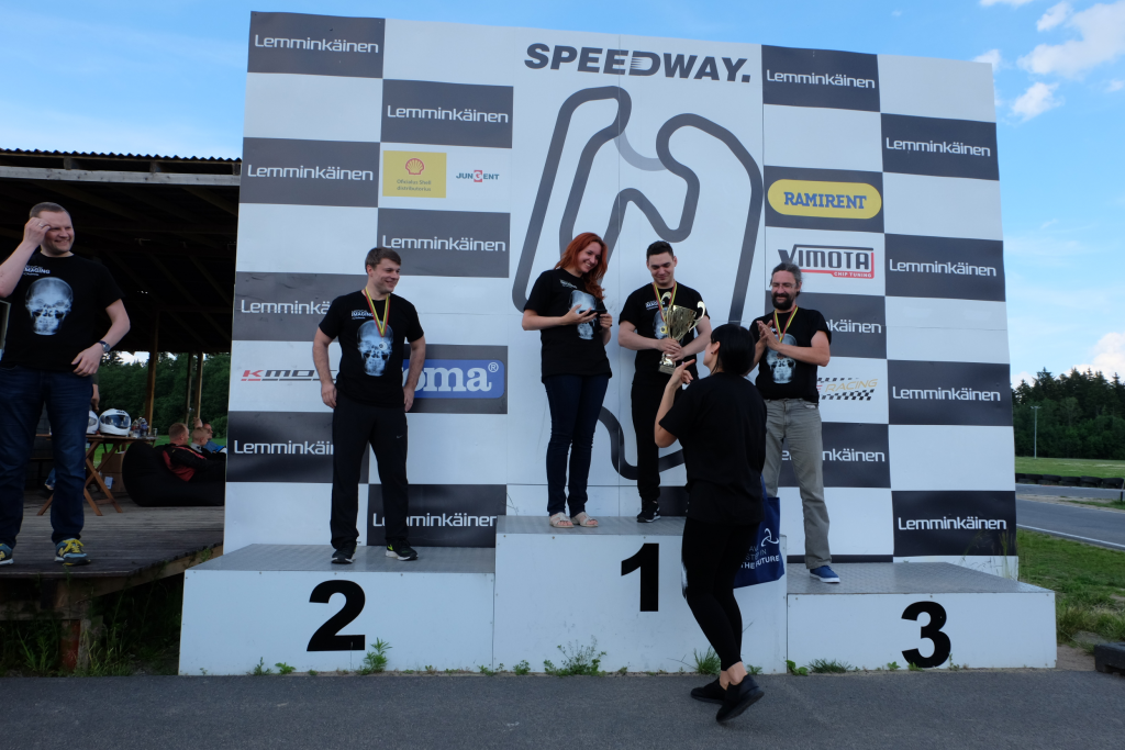1st time go-kart women league winner Softneta