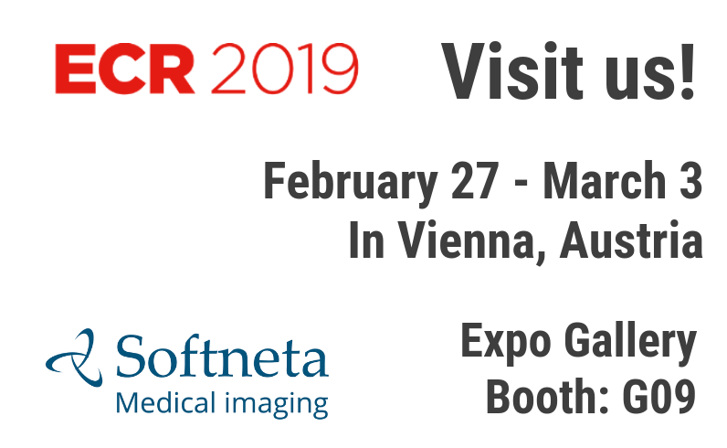 Exhibition ECR 2019 softneta medical imaging