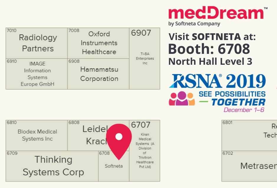 Softneta At RSNA2019 Map