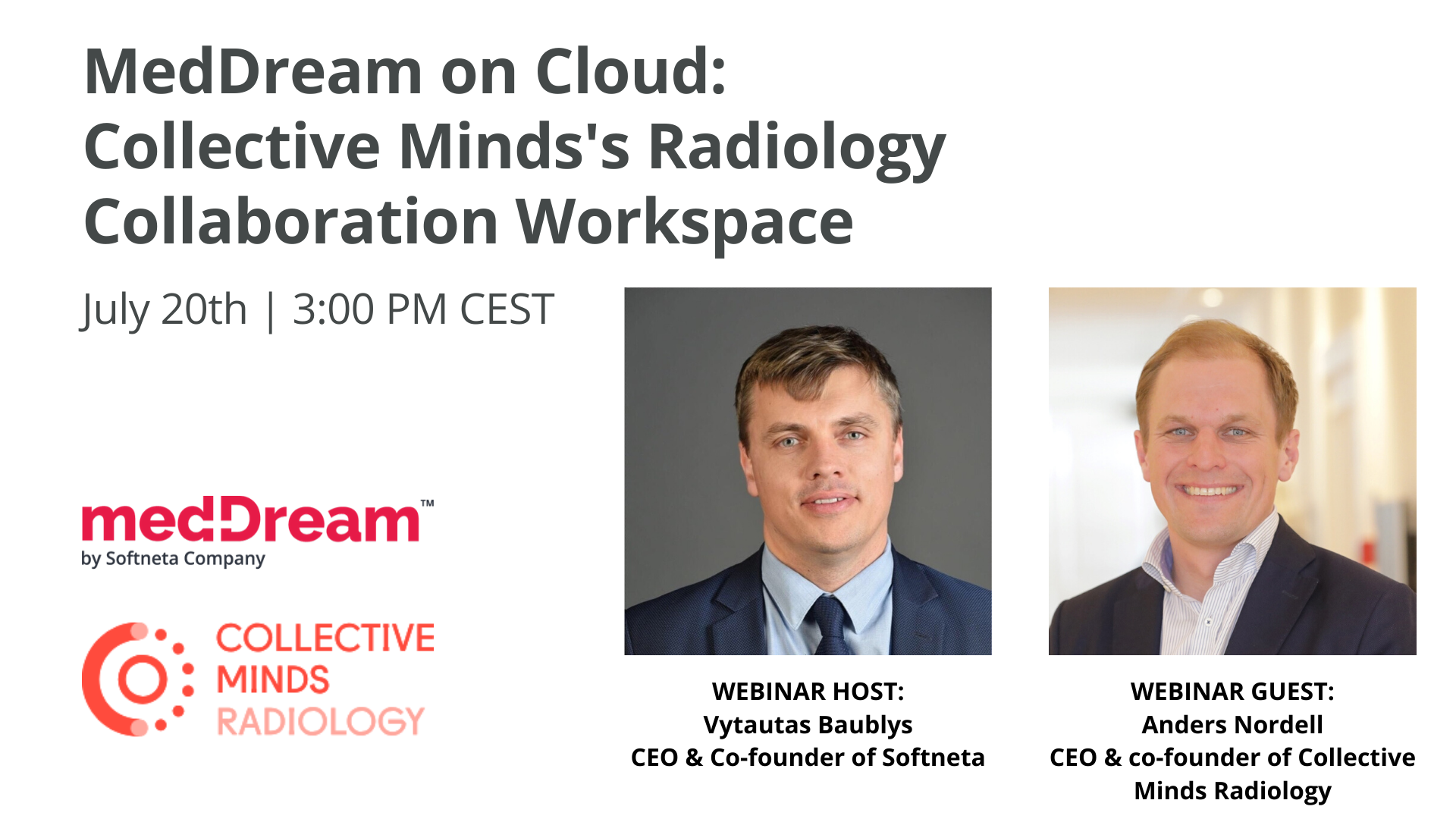 Softneta webinar meddream and cmrad