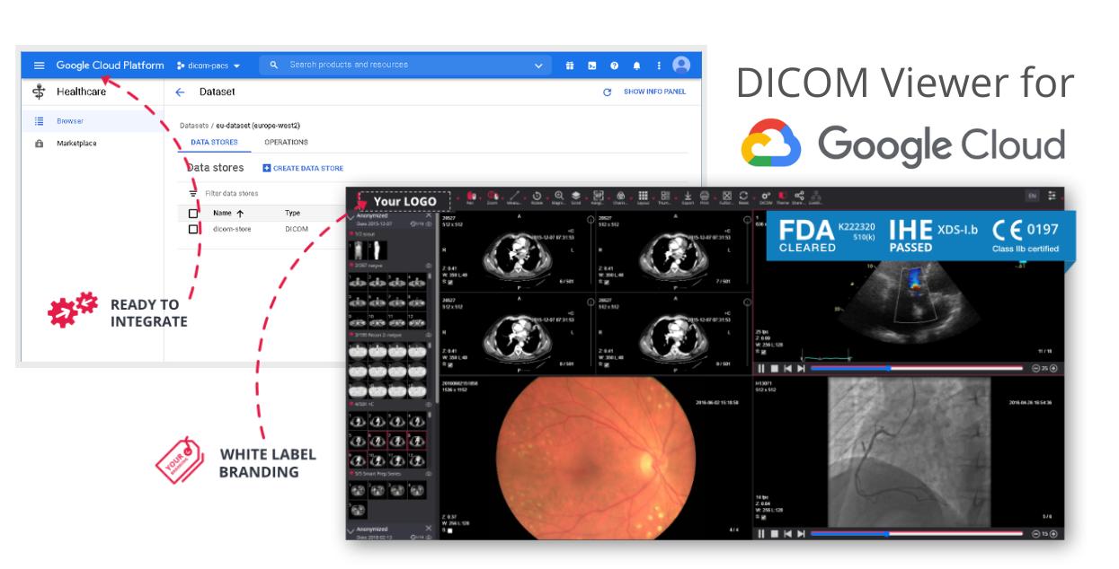 Google Healthcare Cloud With Dicom Viewer Integration