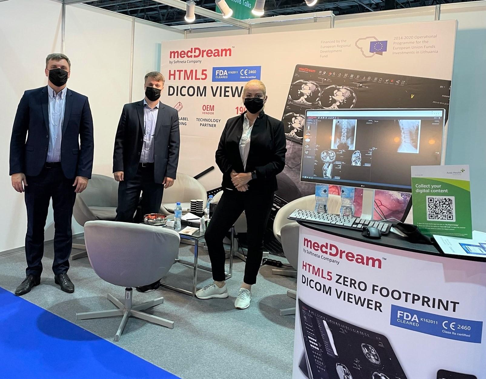 Softneta Web Dicom Viewer At Arab Health Exhibition Onsite