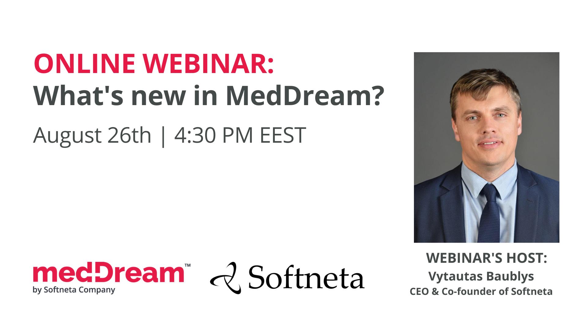 Softneta Meddream Webinar New Features Presentation Web